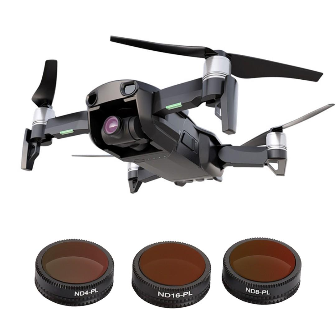 TELESIN ND-PL Filters Set 3 Pack for DJI Mavic Air Quadcopter Lens Protector ND4-PL , ND8-PL , ND16-PL