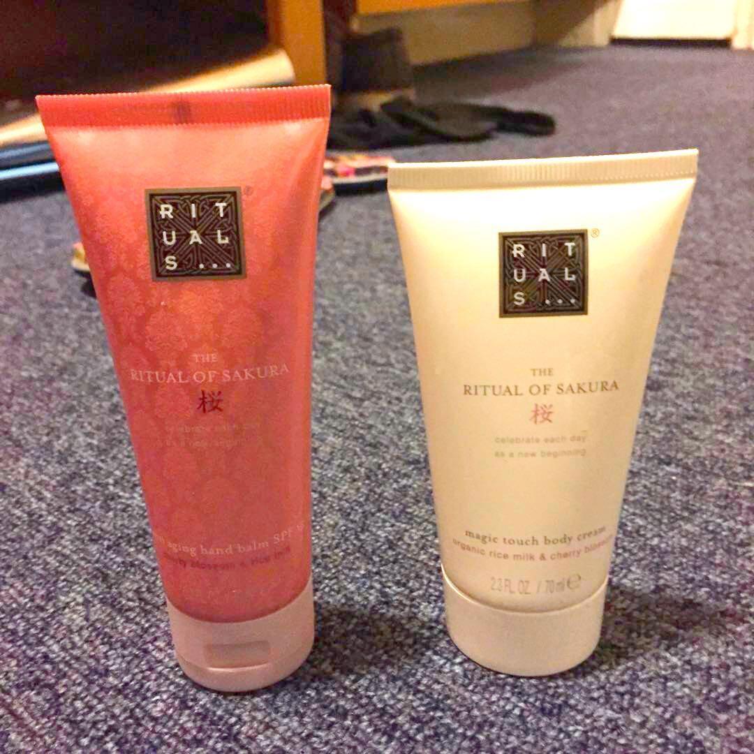 25ab60cacd35 The Ritual Of Sakura Body Cream & Anti Aging Hand Lotion , Health ...
