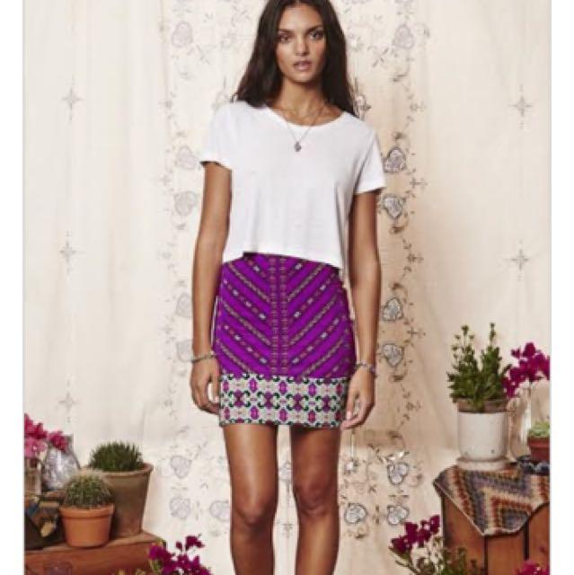 Tigerlily Pink Mini Skirt