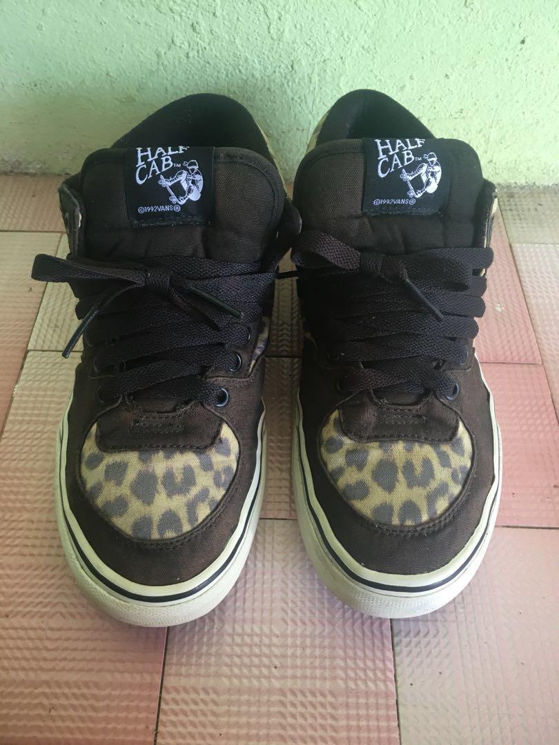 VANS Half Cab Canvas Leopard, Men's