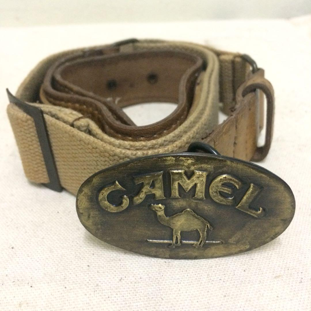 Vintage Camel belt with pouch