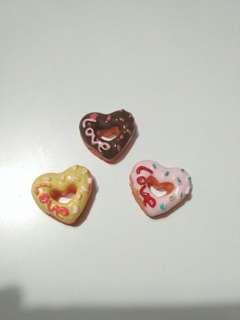 Heart shape donut charm