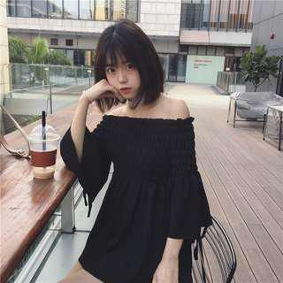 🚚 Black off shoulder dress
