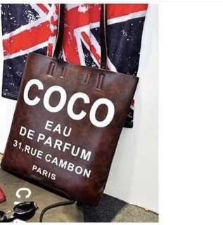 Coco 日系皮包 單肩包 棕色
