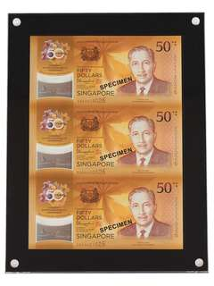 ✳️ Singapore Brunei CIA 3-in-1 Uncut Notes [SG-02]