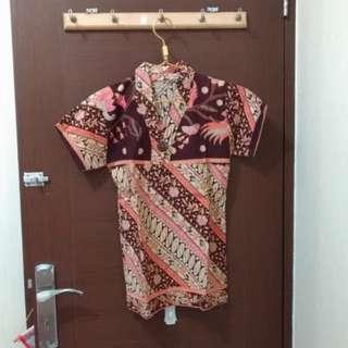 Brown Orange Batik