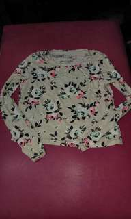 Aeropostale Flower Blouse