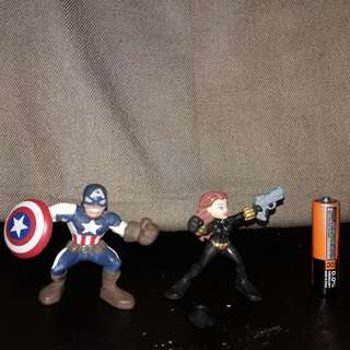 Captain America and Black Widow set