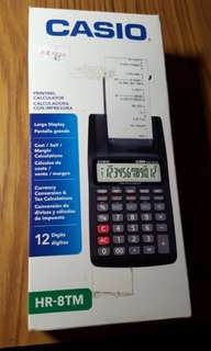 Casio Calculator w/printing function(non nego)