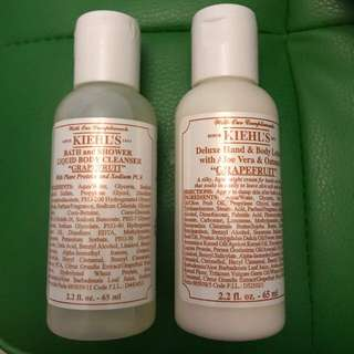 🚚 Kiehl's body wash and body lotion