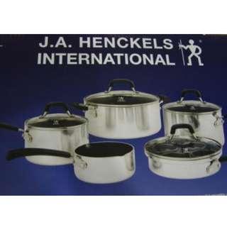Zwilling JA Henckels International High Quality Cookware Set. Import Set  Aluminuim Non Stick Cookware Set(14 pcs