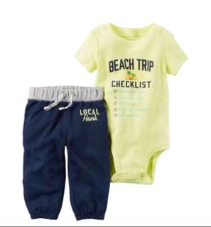 🚚 *18M* Brand new Carter's Bodysuit Pant Set For Baby Boy