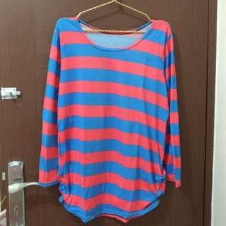 Blue Pink oversized knitwear