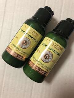 L'occitane hair shampoo and conditioner for travel deluxe size