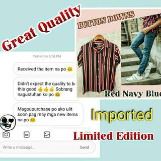 Satisfied Customers Vertical Stripes Button Down Polo