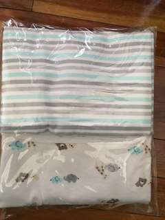 Baby blanket Cotton flannel (2 in 1pack blue) autumnz blanket