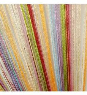 Long string multi colour curtain