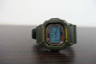 Casio G Shock G 5600 Hijau Army Original Not Swatch Swiss army Seiko Fossil DW Timex Rolex Omega Tag Heuer