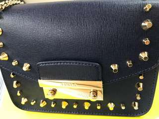 Furla Julia Studded Bag Navy