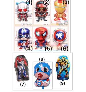 (18/4) ( ANY 2 for $5.00 ) Superheroes / Marvel Hero/ Avengers / transformers balloons wall Deco (SOLD AS DEFLATED)