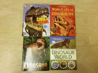 Dinosaur book set (4 books) + 4 free books