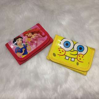 Disney & Spongebob Kids Wallet
