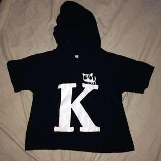 cropped top hoodie shirt K