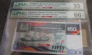 Singapore ship $50 low number