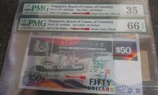 Singapore ship $50 low number