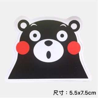 🚚 熊本熊 大頭可愛表情 行李箱 安全帽 防水貼紙