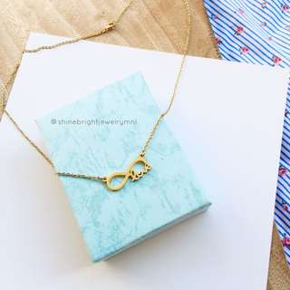 Love Infinity 2 Necklace (Gold Tone)