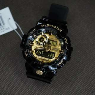 GSHOCK GA700 BLACK/GOLD