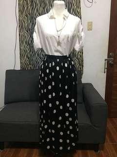 Polkadots Long Skirt