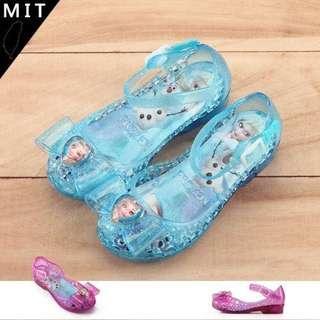 🚚 全新冰雪奇緣frozen女童公主鞋/蝴蝶愛心裝飾果凍鞋/MIT製造娃娃鞋/正版授權