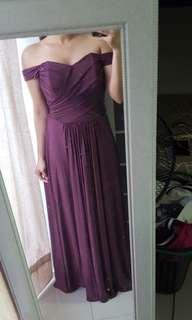 Mauve/Violet Long Gown