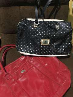 Original Lacoste and Guess Bag