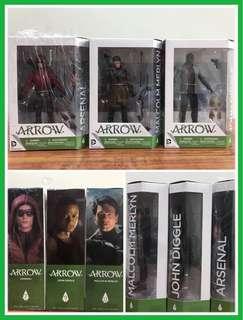 DC collectibles - ARROW TV series figures