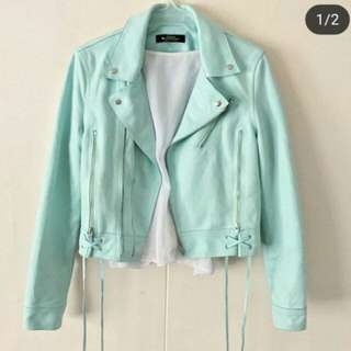 Mint green leather jacket (HARD TO LET GO! 😢)