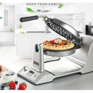 [廠商直送] 高檔 出口歐美豪華型液晶顯示自動定時溫控鬆餅機 不沾鍋烤盤