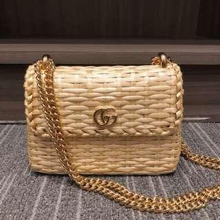Gucci AW18 爆款 新款藤編織 手袋