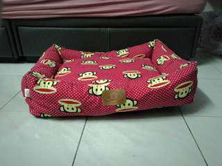 Monkey Design Pet Bed with Removable Cushion