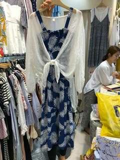 🔺正韓樹葉洋+白罩衫(套裝)