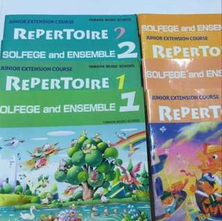 Yamaha Junior Extension Course (JXC) Level 1 to 4 Solfege & Ensemble and Repertoire Books and CDs