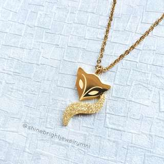 Fox Necklace (Gold Tone)