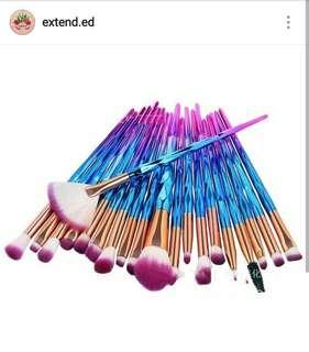 20 pcs Unicorn Brush Set