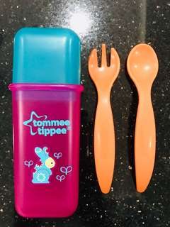 Tommee Tippee Weaning Travel Cutlery Set