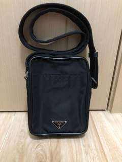 Prada nylon crossbody bag black shoulder 男女可用