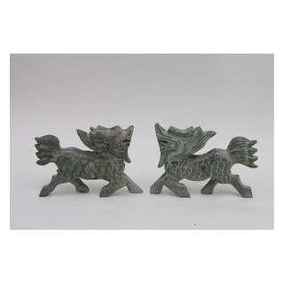 A pair of Jade Stone Qilin