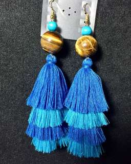 Tassel stone earrings hand made
