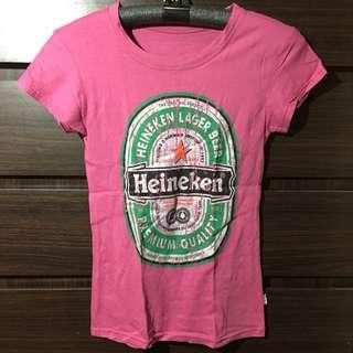 Fucshia Heineken Tshirt